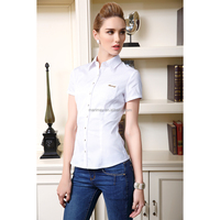 Latest clothes for women fashion,office uniform design formal shirt for ladies,woman wear
