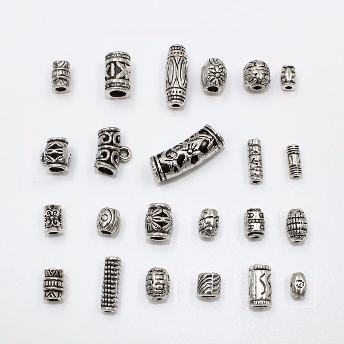 Making your own jewellery accessories metal antique beads for necklace bracelets, Antique silver