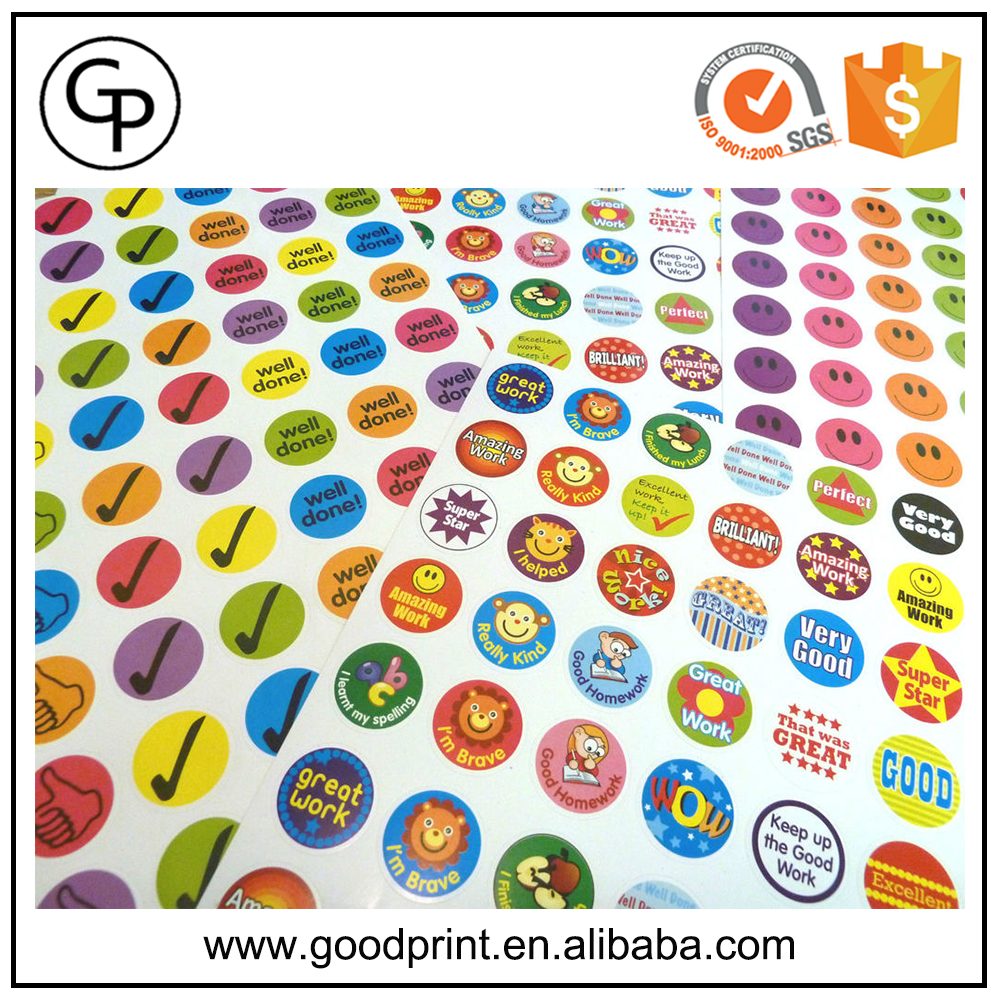 Custom stickers logo make your own sticker printing company big