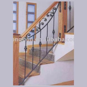 Top Ing Wooden Wrought Iron Indoor Metal Handrail