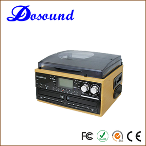 Top sales best oem dual cassette double cd player with built in speakers
