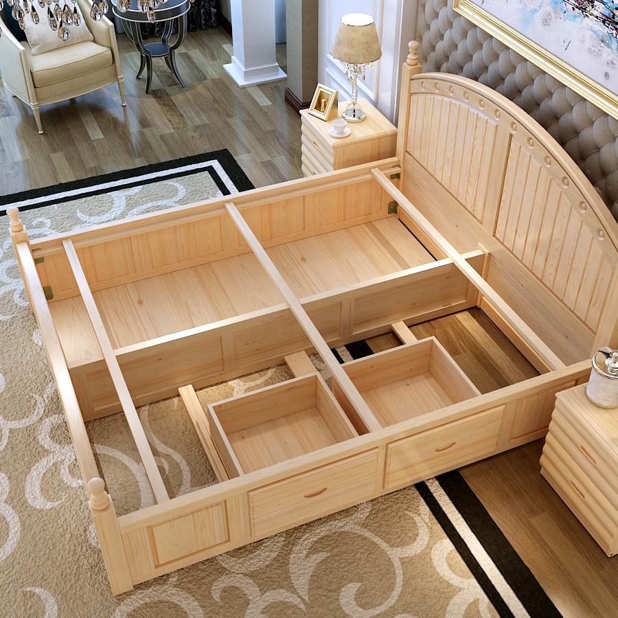 SG0217High calidad muebles de dormitorio de madera de teca king size ...