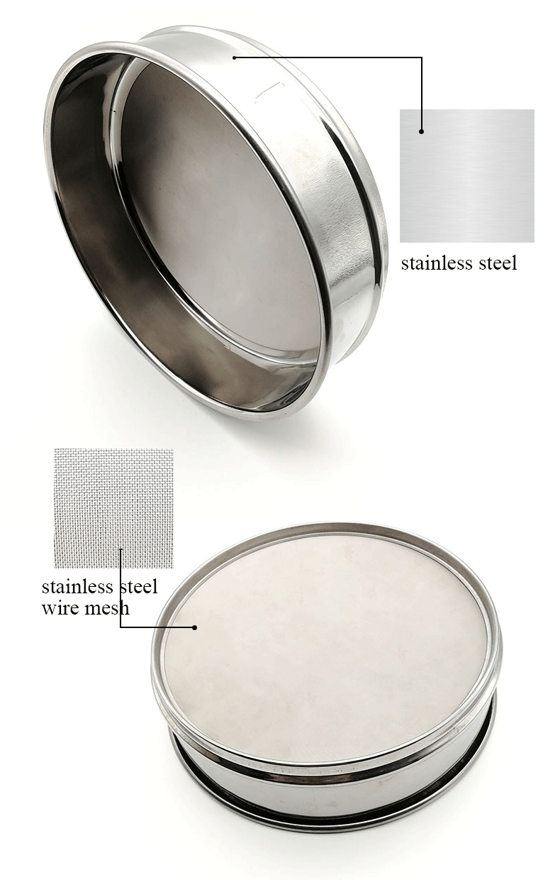 200mm 300mm 400mm 450mm 600mm diameter stainless steel test sieve,/150 mesh 100 micron screen test sieve