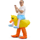 Hot Sale Halloween Costume Inflatable Yellow duck Costume for Cosplay Party Inflatable Costume for Adults