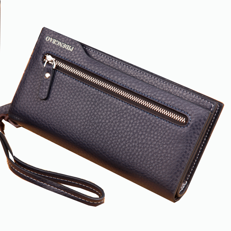 2017 Designer leather hand wallet clutch bag business hand purse deep color for man whosale