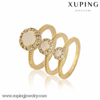 12872-Xuping Copper Alloy Factory Price 3pcs Different Size Set Rings