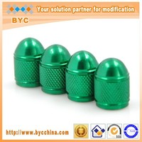 Car valve protection caps Short Bullet valve caps Green