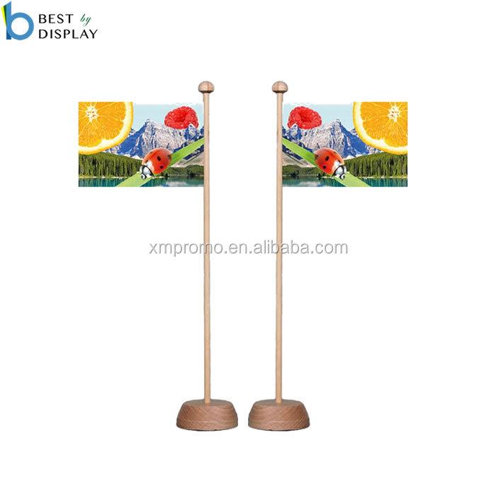 Table en plastique or plat drapeau base avec 5 trous