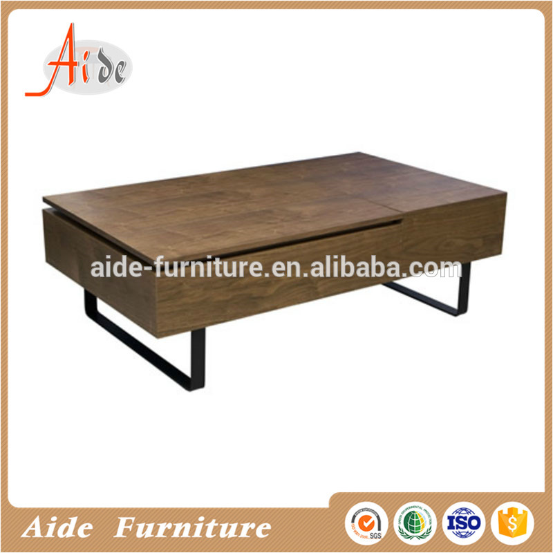 Luxury multi function mdf coffee table with lifting platform