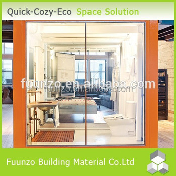 Economical prefabricated fiber glass building houses buy for Prefab glass house prices