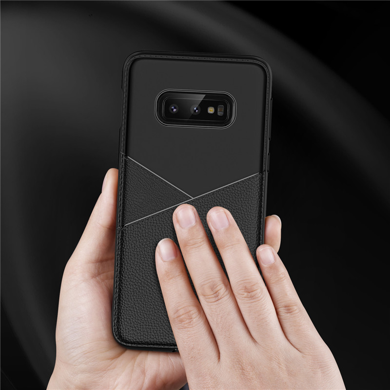 New Design Pure Colour Business Leather TPU for Samsung S10 S10lite S10E Phone Case