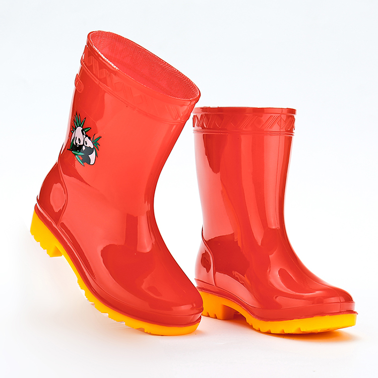 High Quality Colorful Waterproof Plastic Cheap Kids Boots Girls