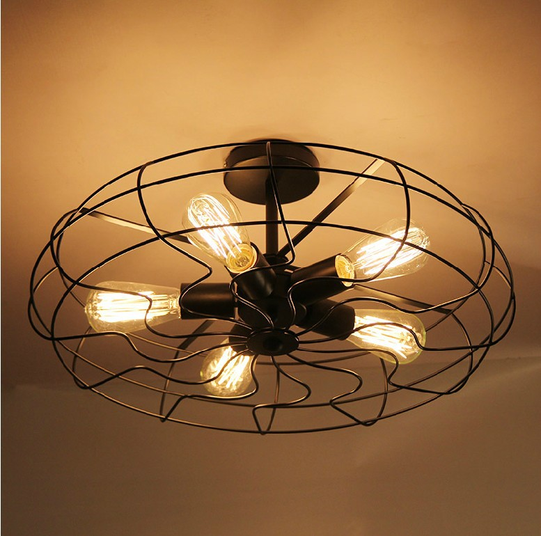 Creative American Country Vintage Ceiling Lights