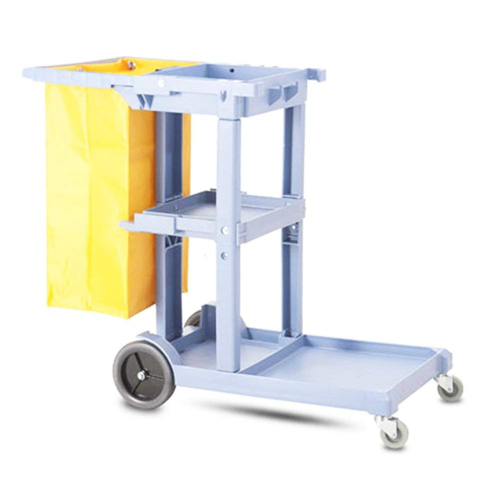 Get Quotations · Janitorial Cleaning Cart Rolling Janitor Ultility Cart  with 3 Shelves(Item#024207)