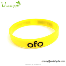 Eco friendly sports egypt silicon wrist bands custom silicon wristband with logo printed