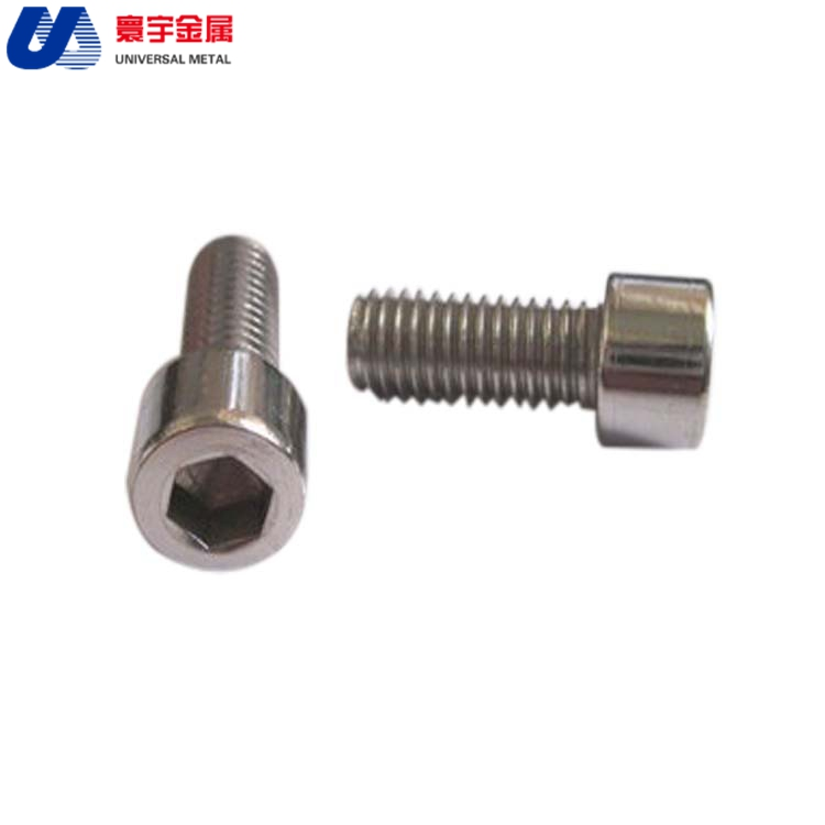 DIN912 Internal six angle cylindrical head titanium bolts titanium screws