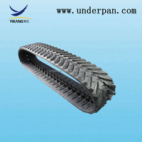 small rubber crawler track for bulldozer