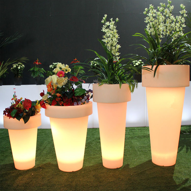 Luxury Party Decorations Led Outdoor Flower Pot Led Indoor Potted