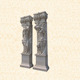 Marble carving wedding stage pillars