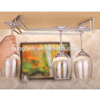 Metal Wine Glass Rack Hanging Wine Glass Holder Stainless Steel