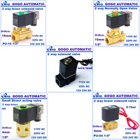 2w025-08 220 volt shut-off solenoid valve for air ,water,oil ,gas