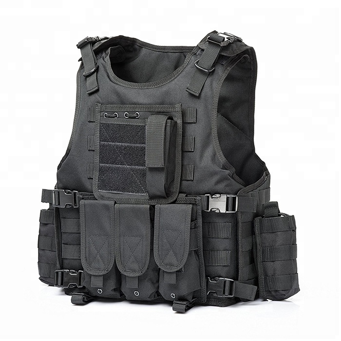 YAKEDA wholesale black police army soft bulletproof molle chaleco tactico militar military tactical vest gilet tactique