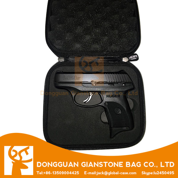 High security customized small hand gun case