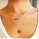 Unique Charm Brand Design Gold Color 3 Layer Clavicle Chain Bar Necklace Long Choker Necklace & Pendant Jewelry For Women