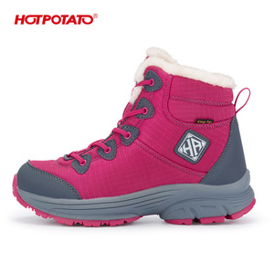 500,000 pairs sold waterproof plush padded winter boots HP5005 with water repellent and non-wicking upper for -15 degree