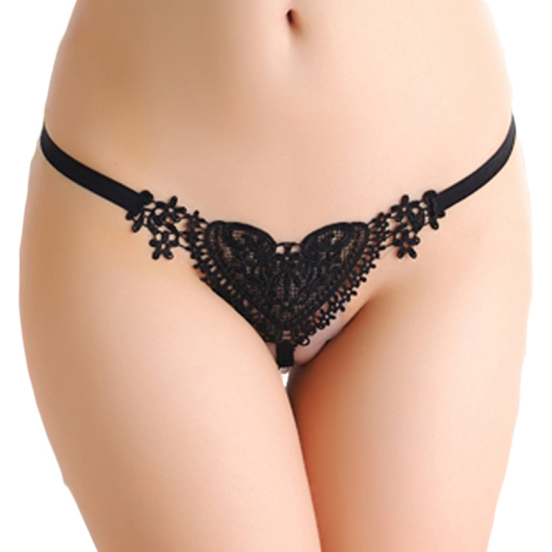 52ad8001090 Hot Sexy Japan White Sweet Lace Heart Pearl T-back G-string - Buy ...