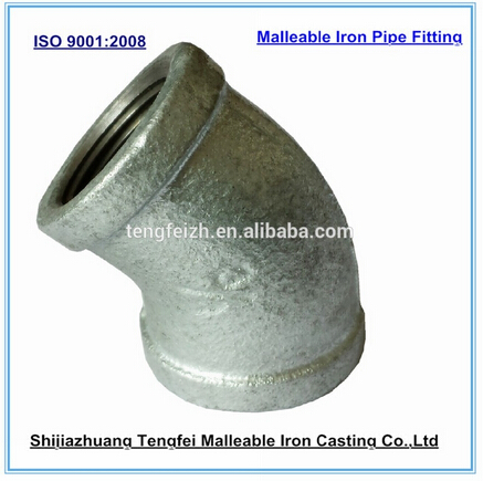 EN 10242, ASME B16.3, ISO 49, BS 143 malleable iron electrical conduit 90 degree elbow elbow
