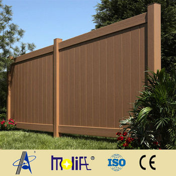 Zhejiang Afol Dark Brown Vinyl Fence Buy Dark Brown
