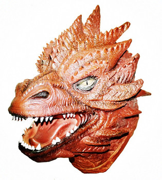 Famous Movie Lord of Ring Cosplay Costume Latex Smaug Mask for Adult Halloween Party