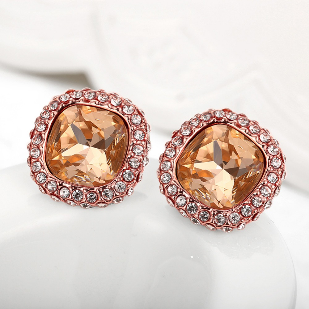 Square Rose Gold Ear Tops Designs Stud Earrings - Buy Bisuteria ...