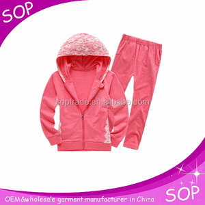 Children sport wear casual clothes set girl soccer boutique outfit hoodies
