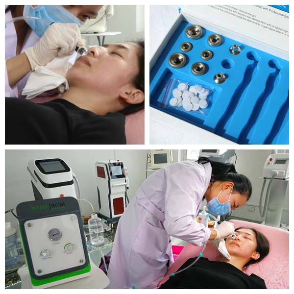 Facial spa diamond microdermabrasion aqua peeling machine for skin cleaning