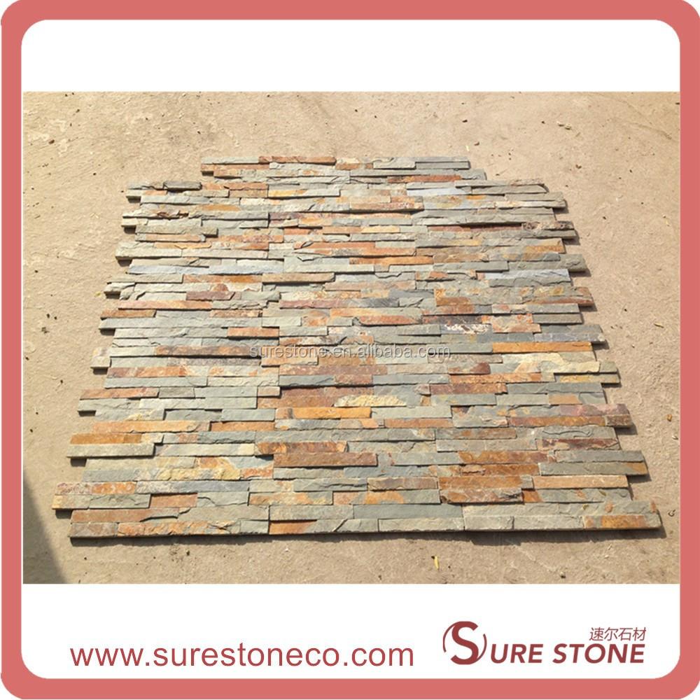 Natural chapa apilados cornisa pizarra oxidada piedra - Piedra pizarra oxidada ...