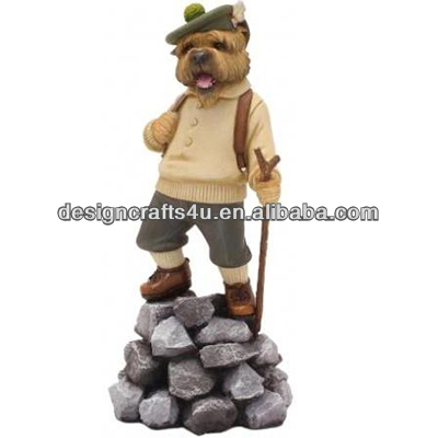 Resin Hiking Dog Statue kids novelty gifts
