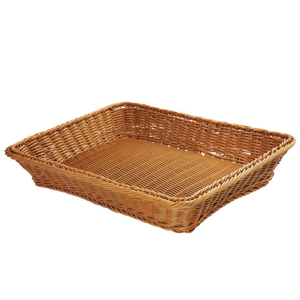 Wicker Bread Basket-Woven Tabletop Food Fruit Vegetables Serving Basket, Restaurant Serving,Brown