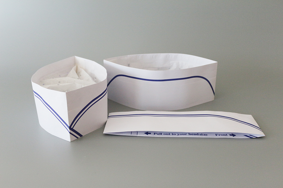 Chinese Manufacture Custom Disposable Paper Forage Chef Hat Folding Paper Cooking Hat