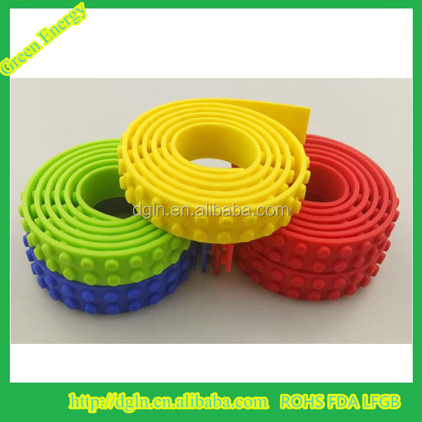 Wholesale manufacturers silicone Building Block Tape,high flexibility silicone block toy,Reusable double faced adhesive tape