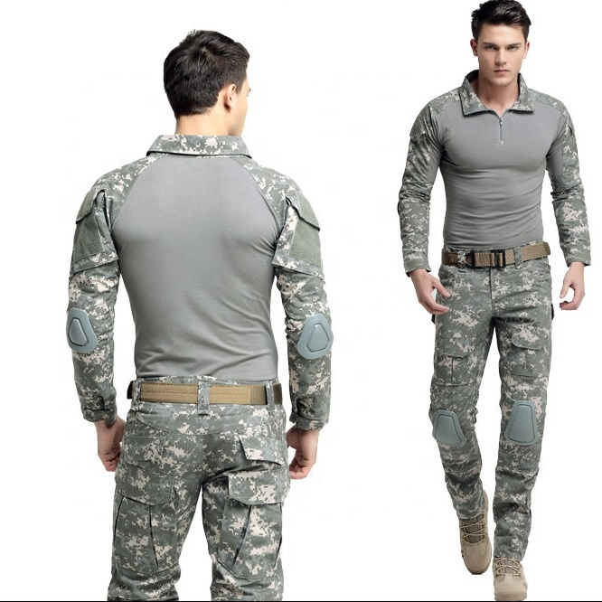 Alibaba.com / Multicam Camouflage Battle Multi Pockets Uniform Frog Suit  Tactical Universal Frog Combat Suit with Elbow Knee Protectors