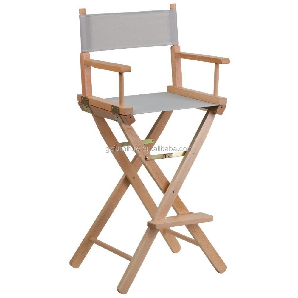 Guangzhou cheap make up director garden chair high bar lawn chair