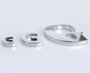 Decorative laser cutting flat cut metal letters and numbers