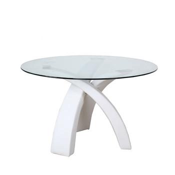 Ronde Glas Tafel.Moderne Ronde Glazen Eettafel Houten Poot Buy Ronde Tafel Ronde