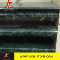 green marble stair tiles