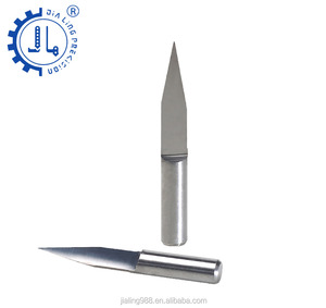 JIALING 3.175mm CNC end mills Metal flat bottom engraving end mill for plastic box wood carving metal
