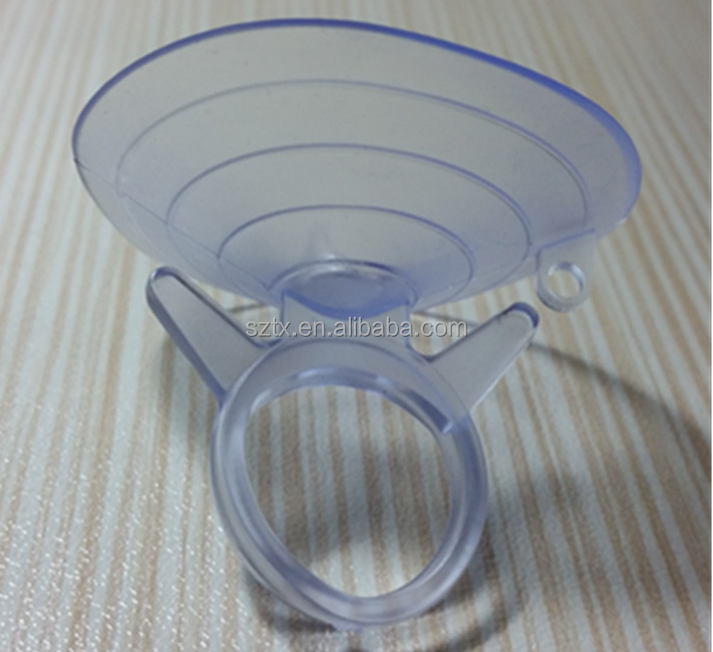 hot selling 4.5cm transparent PVC vacuum suction cup for car
