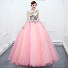Женское свадебное платье It's YiiYa, голубое Элегантное платье без рукавов с круглым вырезом, длина до пола, кружевное платье размера плюс, Vestido de...(China)