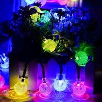 Solar Outdoor String Lights 6M 30LED Crystal Ball Christmas Globe Lights for Garden,Party Decoration LED Garlands String Lights